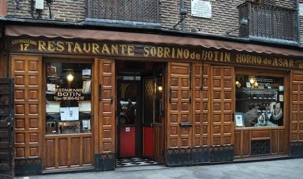 Restaurante sobrino de Botín Madrid