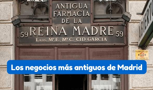 negocios más antiguos de Madrid